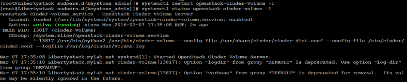 Basic Cinder (volume) service functionality in Openstack – Part1